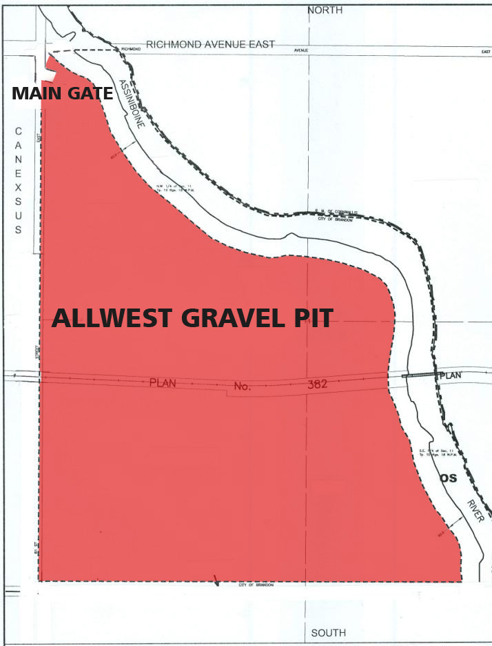 AllWest Gravel Pit Map